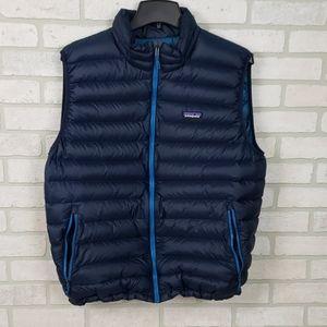 Patagonia Men's Puffer Vest XL Dk Blue/Lt Blue